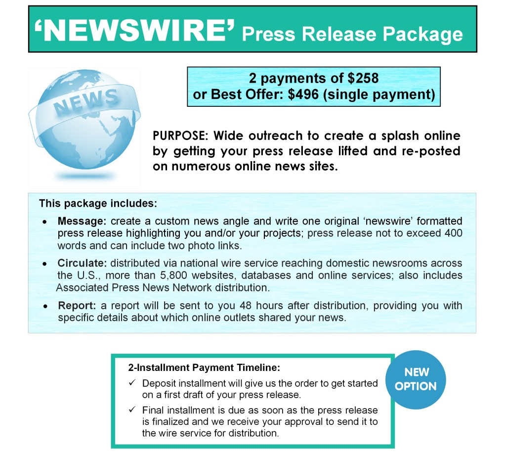 Price - Newswire Release page
