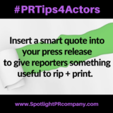 #PRTips4Actors: Create Smart Quotes Reporters Will Love to Rip + Print