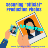 "Securing ""Official"" Production Photos"